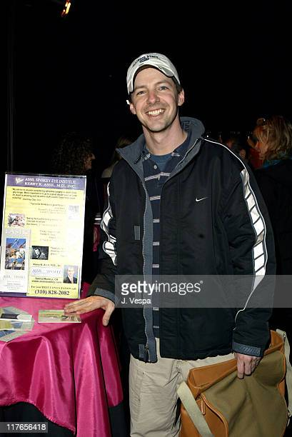 Sean Hayes with AssilSinskey Eye Insitute during 2004 Screen Actors Guild Awards Backstage Creations Day One at The Shrine Auditorium in Los Angeles...