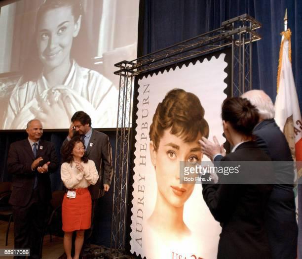 Sean Hepburn Ferrer , son of the late Audrey Hepburn joined actress Jennifer Love Hewitt , US Postal Service representatives and Dr. Karen Imagawa...