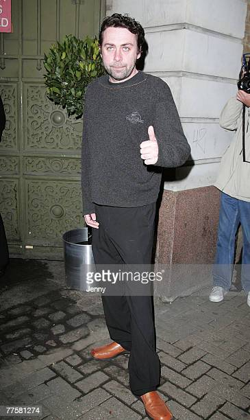 Sean Hughes arrives at the Channel 4 25th birthday party at the Quarter Club in London on October30 2007 in London England