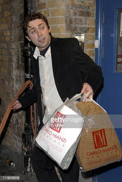 Sean Hughes during Sienna Miller and Sean Hughes Depart from Her Final Performance of 'As You Like It' at The Wyndham's Theatre in London at The...