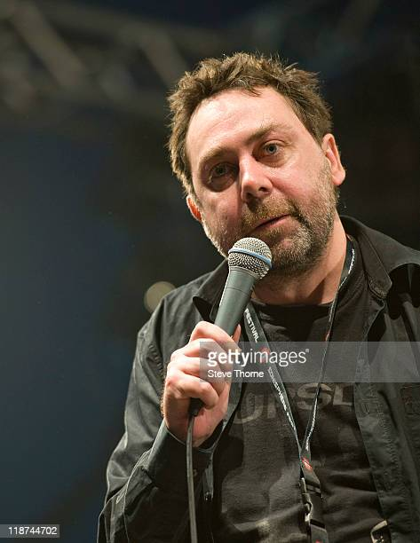 Sean Hughes performs on stage during the third day of Sonisphere 2011 at Knebworth House on July 10 2011 in Stevenage United Kingdom