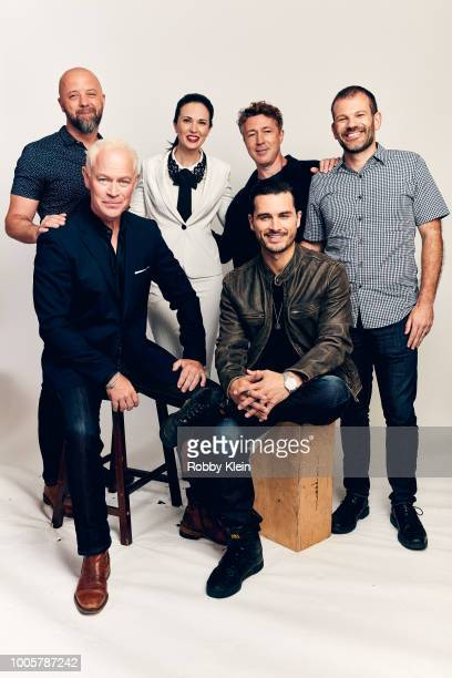 Sean Jablonski Neal McDonough Laura Mennell Aiden Gillen Michael Malarkey and David O'Leary of HISTORY's 'Project Blue Book' pose for a portrait...