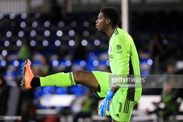 Sean Johnson of New York City looks on during a quarter final match of MLS Is Back Tournament between New York City and Portland Timbers at ESPN Wide...