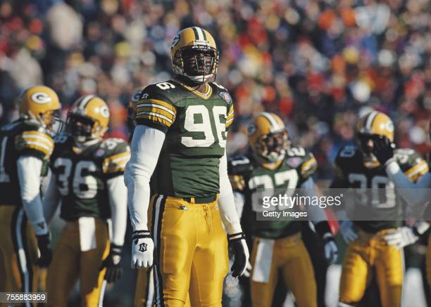 Sean Jones Defensive End for the Green Bay Packers during the National Football Conference Central game against the Atlanta Falcons on 18 December...