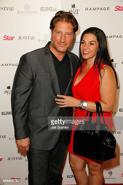 Sean Kanan and Michele Vega arrive at the Star Magazine Scene Stealers Event at Lure on October 9 2014 in Hollywood California