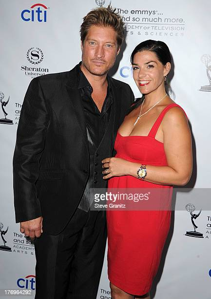 Sean Kanan and Michele Vega arrives at the Academy Of Television Arts Sciences' Performers Peer Group Cocktail Reception To Celebrate The 65th...