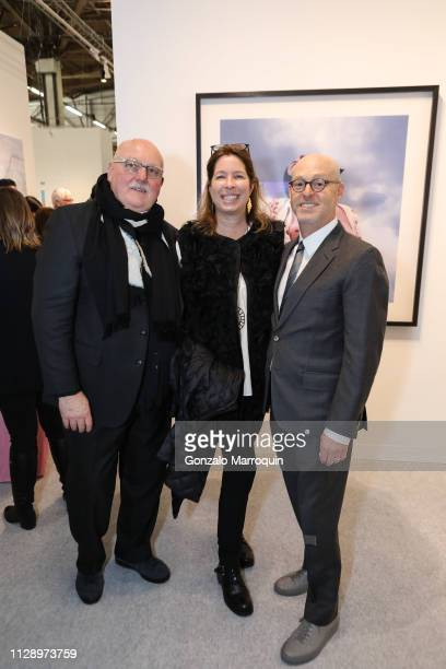 Sean Kelly Anne Pasternak and David Berliner during the Armory Show 2019 VIP Preview at Pier 90 on March 6 2019 in New York City