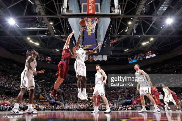 Sean Kilpatrick of the Brooklyn Nets dunks against the Cleveland Cavaliers on November 22 2017 at Quicken Loans Arena in Cleveland Ohio NOTE TO USER...