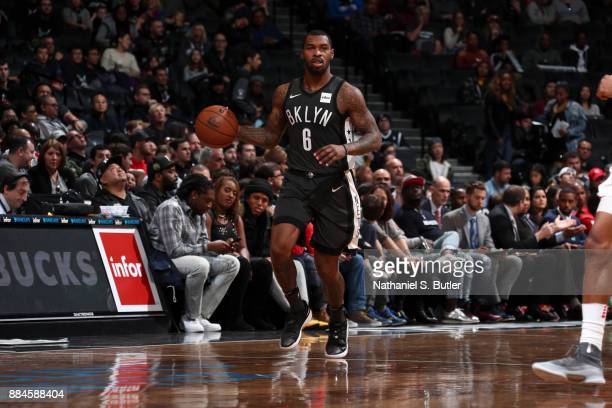 Sean Kilpatrick of the Brooklyn Nets handles the ball against the Atlanta Hawks on December 2 2017 at Barclays Center in Brooklyn New York NOTE TO...