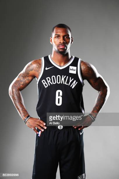 Sean Kilpatrick of the Brooklyn Nets poses for a portrait during Media Day at HSS Training Center on September 25 2017 in the Brooklyn Borough of New...