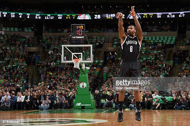 Sean Kilpatrick of the Brooklyn Nets shoots the ball against the Boston Celtics on OCTOBER 26 2016 at the TD Garden in Boston Massachusetts NOTE TO...