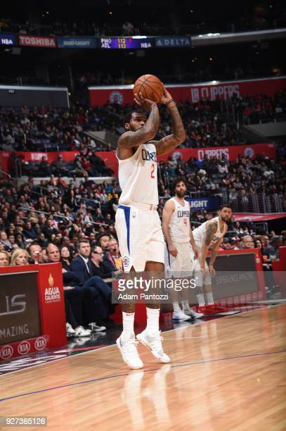 Sean Kilpatrick of the LA Clippers shoots the ball against the Brooklyn Nets on March 4 2018 at STAPLES Center in Los Angeles California NOTE TO USER...