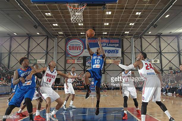 Sean Kilpatrick of the Delaware 87ers goes to the basket during the NBA D-League game against the Delaware 87ers on January 31, 2015 at the DeltaPlex...