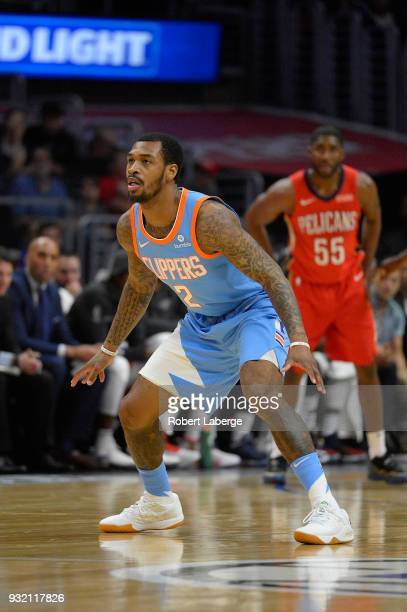 Sean Kilpatrick of the Los Angeles Clippers plays against the New Orleans Pelicans on March 6 2018 at STAPLES Center in Los Angeles California NOTE...