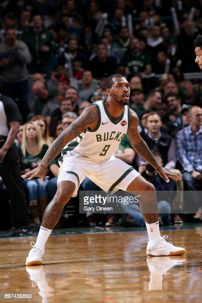 Sean Kilpatrick of the Milwaukee Bucks defends during the game against the Charlotte Hornets on December 22 2017 at the Bradley Center in Milwaukee...