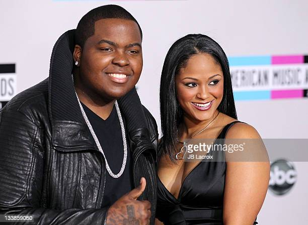 Sean Kingston and Maliah Michel arrive at the 2011 American Music Awards held at Nokia Theatre LA LIVE on November 20 2011 in Los Angeles California