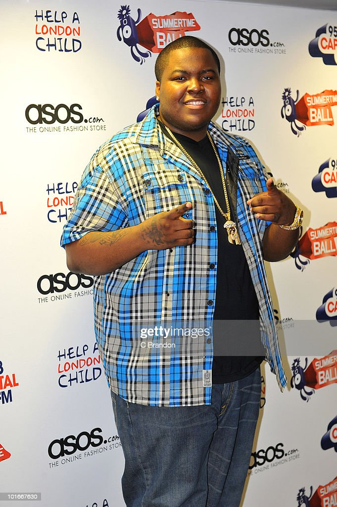 Sean Kingston posing backstage at the Capital FM Summertime Ball at Wembley Stadium on June 6, 2010 in London, England.