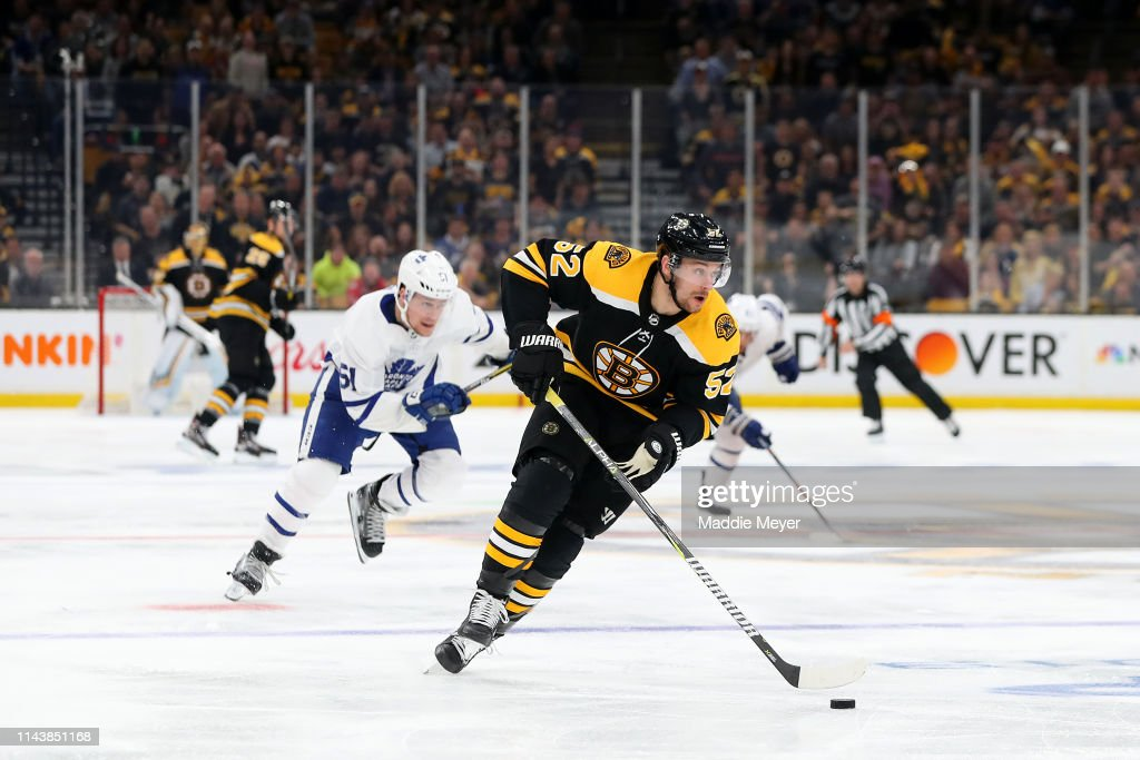 Toronto Maple Leafs v Boston Bruins - Game Five : News Photo