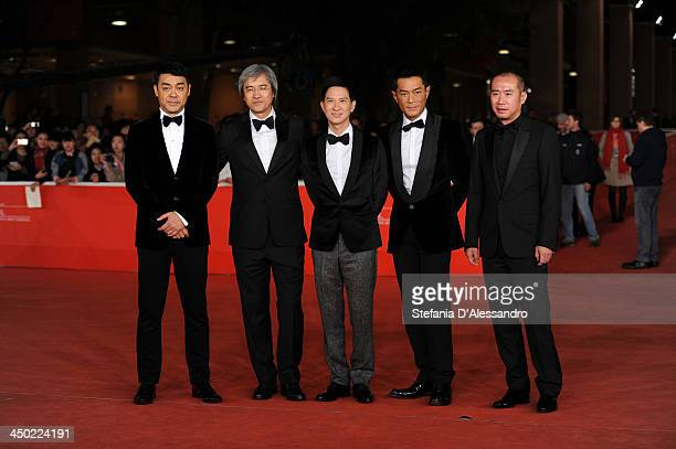 Sean Lau Nick Cheung Benny Chan Louis Koo and producer Daniel Lam SiuMing attend the 'Sou Duk' Premiere during The 8th Rome Film Festival on November...