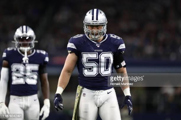 Sean Lee of the Dallas Cowboys at AT&T Stadium on November 10, 2019 in Arlington, Texas.
