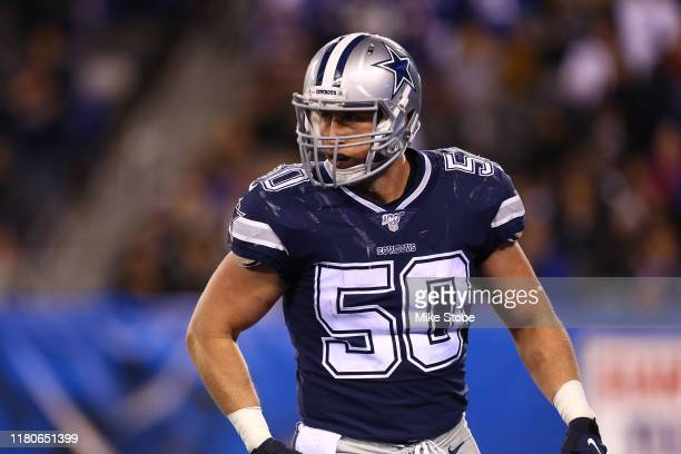 Sean Lee of the Dallas Cowboys in action against the New York Giants at MetLife Stadium on November 04, 2019 in East Rutherford, New Jersey.Dallas...