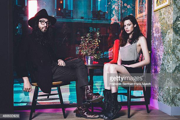 Sean Lennon and Charlotte Kemp Muhl are photographed for Paris Match on August 24 2014 in Paris France