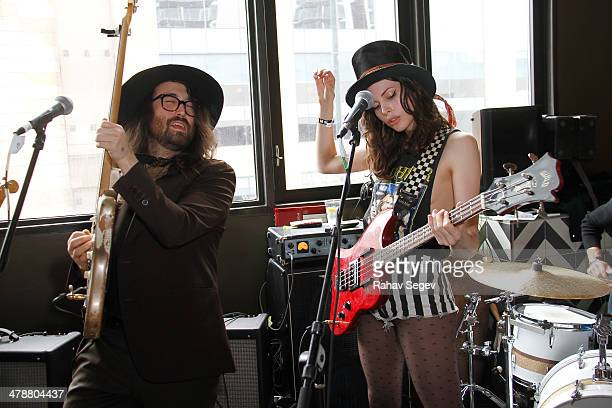 Sean Lennon and Charlotte Kemp Muhl perform with The Ghost of a Saber Tooth Tiger at Mal Verde for eBay Giving Works and Nylon Launch MusiCares...