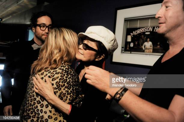 Sean Lennon and Cynthia Lennon and Yoko Ono and Julian Lennon attends the Timeless photography exhibition opening party>> at the Morrison Hotel...