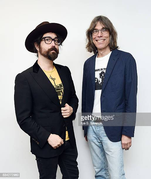 Sean Lennon and David Fricke visit the SiriusXM Studio on May 25, 2016 in New York City.