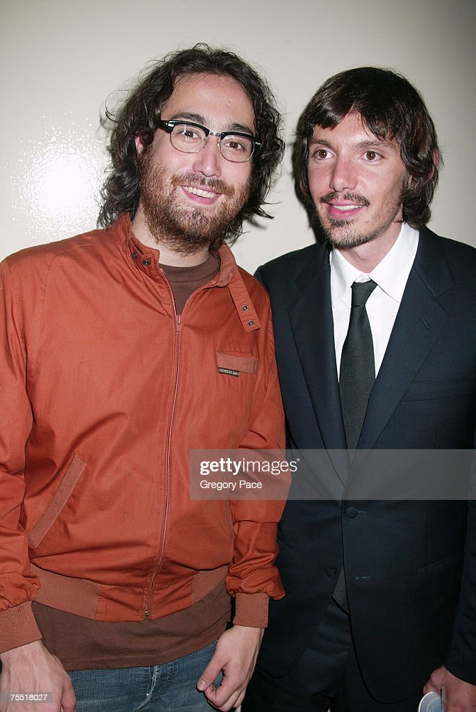 Sean Lennon and Lukas Haas at the 'Last Days' New York City Premiere - Inside Arrivals at The Sunshine Theatre in New York City, New York.