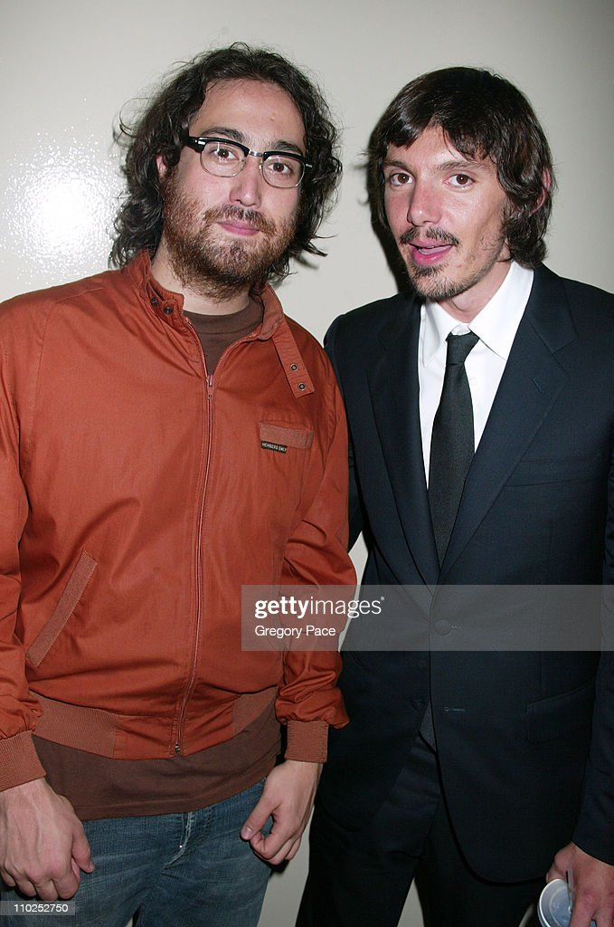 Sean Lennon and Lukas Haas during 'Last Days' New York City Premiere - Inside Arrivals at The Sunshine Theatre in New York City, New York, United States.