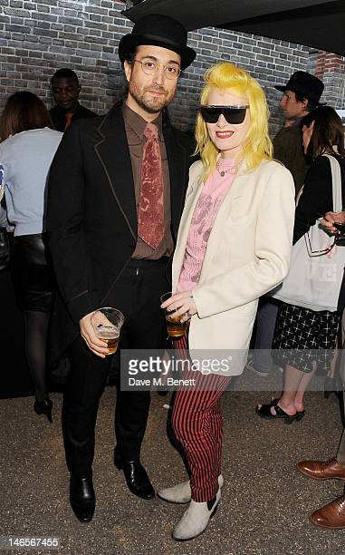 Sean Lennon and Pam Hogg attend a private view of 'Yoko Ono To The Light' exhibition at The Serpentine Gallery on June 19 2012 in London England