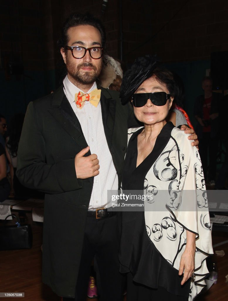 Sean Lennon and Yoko Ono attend the threeASFOUR Spring 2012 fashion show during Mercedes-Benz Fashion Week at St. Patrick's Old Cathedral Youth Center on September 15, 2011 in New York City.