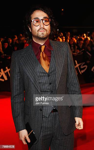 Sean Lennon arrives at the The Brit Awards 2008 at Earls Court on February 20 2008 in London England