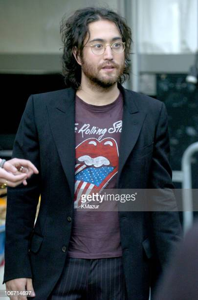 Sean Lennon during Adam Green and The Strokes in Concert at the Central Park Summer Stage May 19 2004 at Central Park in New York City New York...