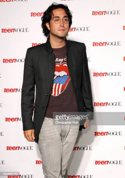 Sean Lennon during Teen Vogue Celebrates Its First Annual Young Hollywood Issue at Private Residence in Beverly Hills California United States