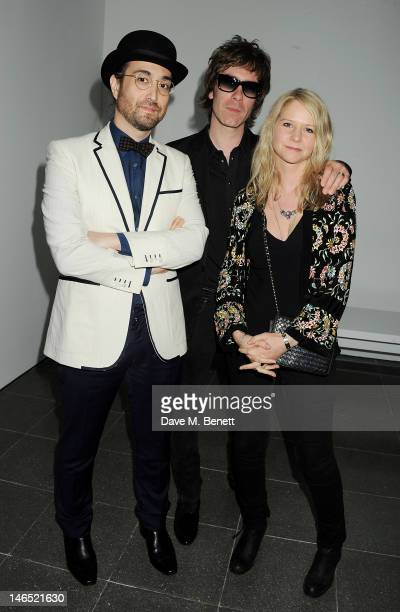 Sean Lennon, Jay Mehler and Lee Starkey attend a Council Reception launching Yoko Ono's exhibition 'To The Light' at The Serpentine Gallery on June...