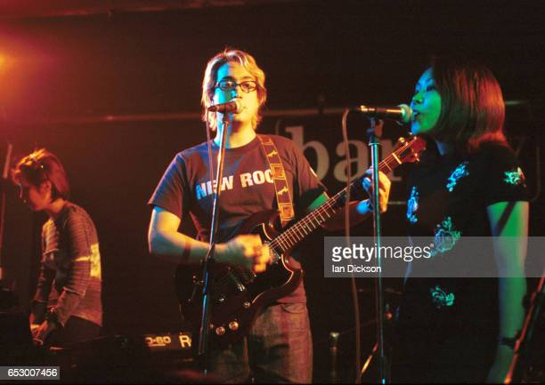 Sean Lennon performing on stage at The Barfly, London, 07 May 1998.