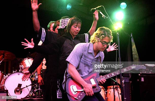 Sean Lennon performs on stage at Metropolis Festival, Rotterdam, Netherlands, 5th July 1998.