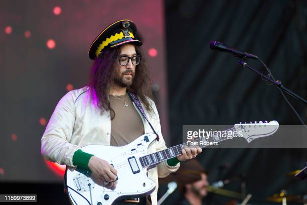 Sean Lennon performs with The Claypool Lennon Delirium at the Beale Street Music Festival in Memphis, Tennessee on May 5, 2019.