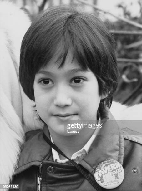 Sean Lennon, son of former Beatle John Lennon, 1984. He is wearing a Cavern Club badge.