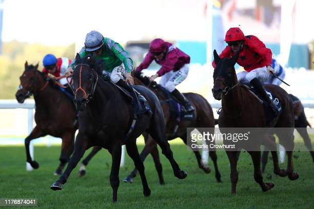 Sean Levey rides King of Change to win The Queen Elizabeth II Stakes during the QIPCO British Champions Day at Ascot Racecourse on October 19, 2019...