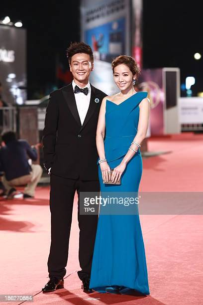 Sean Lin and Patty Hou attend the red carpet of the 48th Golden Bell Award on Friday October 252013 in TaipeiChina