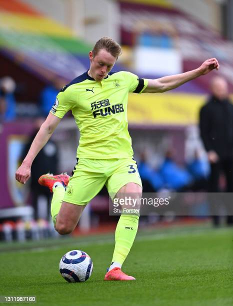 Sean Longstaff of Newcastle in action during the Premier League match between Burnley and Newcastle United at Turf Moor on April 11, 2021 in Burnley,...