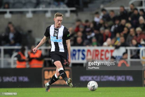 Sean Longstaff of Newcastle United during the FA Cup match between Newcastle United and Rochdale at St James's Park Newcastle on Tuesday 14th January...