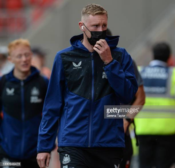 Sean Longstaff of Newcastle United FC during the Pre Season Friendly between Rotherham United and Newcastle United at AESSEAL New York Stadium on...