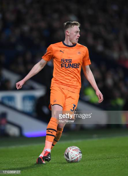 Sean Longstaff of Newcastle United in action during the FA Cup Fifth Round match between West Bromwich Albion and Newcastle United at The Hawthorns...