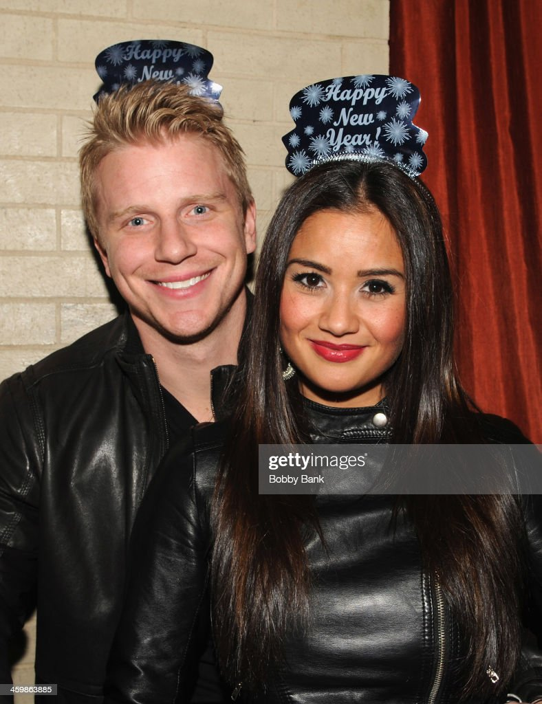 Sean Lowe And Catherine Giudici Host New Years Eve 2014 At Bowlmor Lanes
