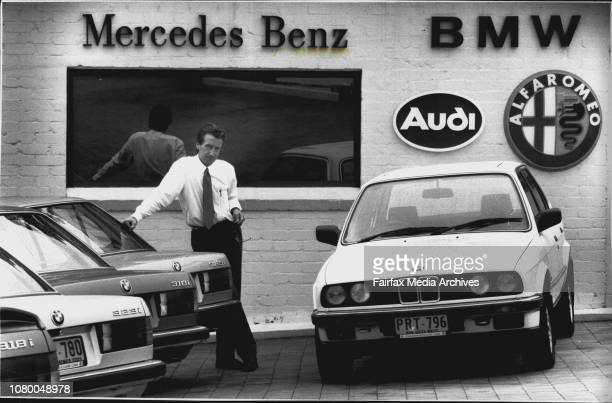 Sean Lygo general manager of Chatswood classic cars A number of his Ritzy cars suffered bad hail damage during Sundays stormSean in his caryard a...