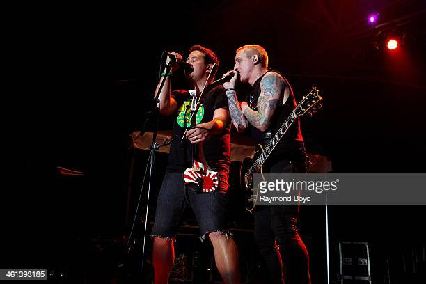Sean Mackin and Ryan Key from Jacksonville Florida alternative rock band Yellowcard performs on the US Cellular Connection Stage at the Henry W Maier...